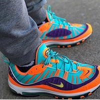 NIKE Air Max 98 Colorblock Couple Casual Sneakers