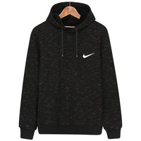 NIKE autumn and winter classic single hook small standard loose hooded casual hooded sweater black