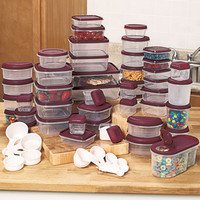 Food Storage Container Set 100 Piece Kitchen Office Lunch Leftovers Freeze NEW