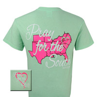 Girlie Girl Originals Pray For The South Southern Bright T Shirt