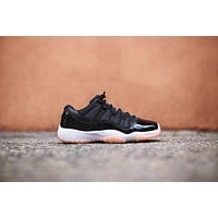 Nike GS Air Jordan 11 Retro Low - Black / Bleached Coral