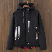 Casual Retro Men's Vintage Slim Fit Quilted Lightweight Hooded Jackets