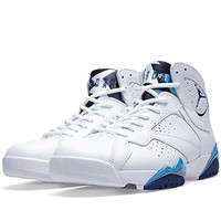 "Men's Nike Air Jordan 7 Retro ""French Blue"" Basketball Shoes - 304775 107"