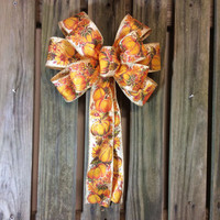 Autumn Harvest Wreath Bow, Fall Holiday Decorative Bows