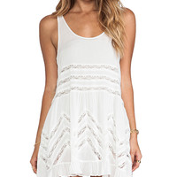 Free People Trapeze Slip Dress in White