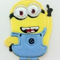 Despicable Me Minion Embroidered Iron On Patch / Sewn On Patch