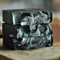 Activated Charcoal soap   vegan by lingerbathandbody on Etsy