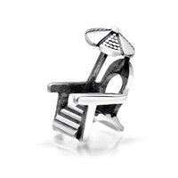 Bling Jewelry 925 Sterling Silver Beach Chair Umbrella Bead Charm