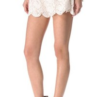Free People Scalloped Lace Short   SHOPBOP