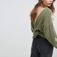 ASOS Sweater With Twist Back at asos.com