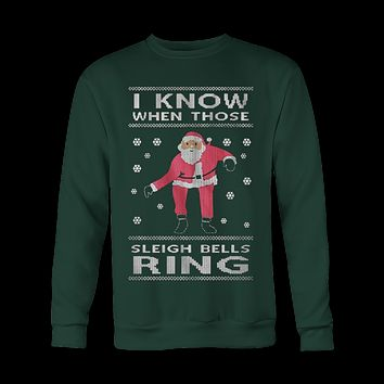Sleigh Bells Ring Ugly Christmas Sweatshirt