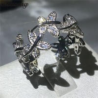 choucong Classic Butterfly Ring 5A Zircon Cz 925 Sterling Silver Engagement Wedding Band Rings for women men Finger Jewelry