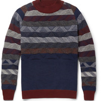White MountaineeringPatterned Knitted-Wool Sweater|MR PORTER