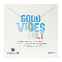 Dogeared Good Vibes Only Flamingo Necklace Gold Dipped - Zappos.com Free Shipping BOTH Ways