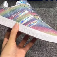 adidas Originals Superstar Shiny Fashion Shell-toe Series Flats Sneakers Sport Shoes