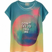 Letter and Galaxy Tie Dye Tee