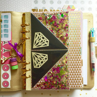 Confetti Shaker Planner Dashboard for kikki.K, Kate Spade, Filofax or 6-Ring Agenda