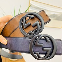 GUCCI 2020 new retro belt classic double G buckle belt
