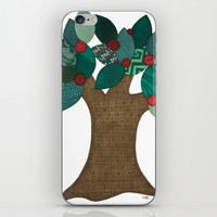 Teal Tree iPhone & iPod Skin by Erin Brie Art