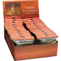Classic Safari™ 24pc Emergency Survival Blankets in Countertop Display