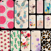 Pattern Elephant Silicon Phone Shell Cover For Apple iPhone 6 iPhone 6S iPhone6 Case For iPhone6S Cases