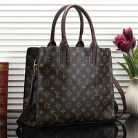 Louis Vuitton LV Women Fashion Leather Satchel Shoulder Bag Handbag Crossbody