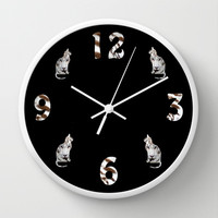 TIGER TIME Wall Clock by catspaws