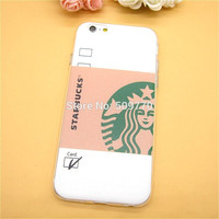 Hot Sale Fashion Starbuck Coffee TPU Slim Back Cover Skin for  iPhone 6plus 6s 7 7plus Thin Soft Phone Case For galaxy S5 S6