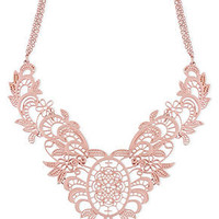 Haskell Necklace, Pink Filigree Frontal Necklace - Fashion Jewelry - Jewelry & Watches - Macy's