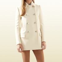 white wool peacoat with contrast lining 367736ZEW539935