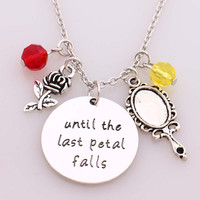 """OPAL FERRIE - Beauty and Beast """"until the last Petal Falls""""Necklace"""