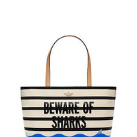 Kate Spade Splash Out Beware Of Sharks Francis Beware Of Sharks ONE