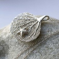 Silver Coral And Starfish Necklace