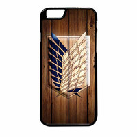 Attack On Titan Legion Logo Wood iPhone 6 Plus Case