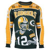 Green Bay Packers Aaron Rodgers #12 Official NFL Player Ugly Sweater