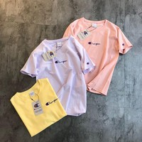 Champion Macarons Embroidery Logo T-shirt