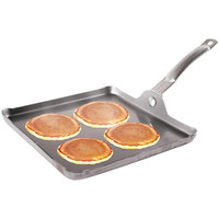 "Stansport 11"" X 11"" 12-gauge Steel Griddle With Detachable Handle"