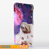Astronaut Sloths In Space iPhone 4/4S, 5/5S, 5C Series Full Wrap Case