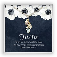 Funtie  Birthstone Letter Necklace
