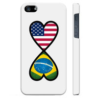 SudysAccessories American Brazilian Forever Brazil Flag Infinity Forever iPhone 5 Case iPhone 5S Case - SoftShell Full Plastic Direct Printed Graphic Case