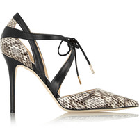 Jimmy Choo - Lapris elaphe and leather pumps
