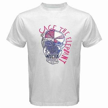 Cage The Elephant Album Logo Rock Band Men'S Black T Shirt Size S Xxl Cool Gift Personality Tee Shirt|T-Shirts