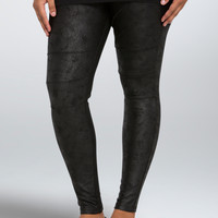 Coated French Terry Leggings