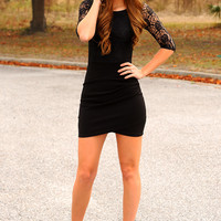 Don't Walk Away Dress: Black