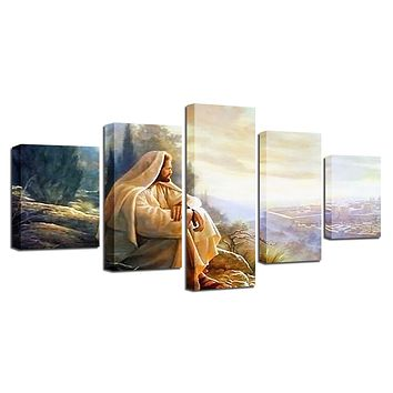 Prophets of Israel 5 Panel Canvas Wall Art