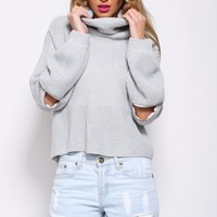 Stand By You Knit Light Grey
