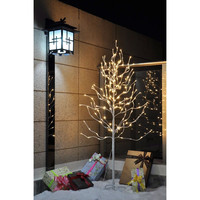 5-Foot Indoor Outdoor Christmas Tree with 200 Led Lights & Stand