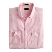 J.Crew Mens Slim Cotton-Linen Shirt