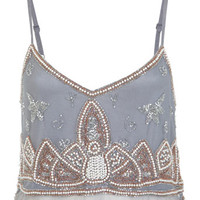 Embellished Cami Crop Top