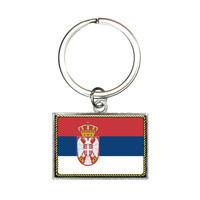 Flag of Serbia Rectangle Keychain
